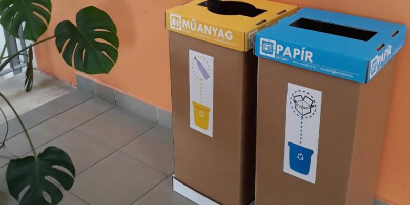 Szelektív hulladékgyűjtés indítása iskolánkban